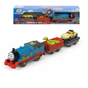 Fisher Price Влакче ТОМАС Thomas & Frieds Motorized Thomas and Ace the Racer от серията TrackMaster, FJK55