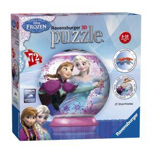 Ravensburger ПЪЗЕЛ 3D за деца топка  (72ч) Замръзналото кралство, Frozen, 12173