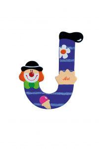 SEVI Буква J дървена  Clown, 82746