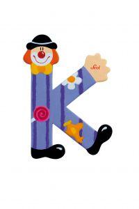 SEVI Буква K дървена  Clown, 82747