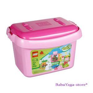 LEGO Конструктор DUPLO РОЗОВА кофа с тухлички Pink Brick Box - 4623