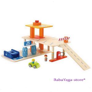 ПАРКИНГ дървена игра за деца с мини фигурки от Sevi - 82239