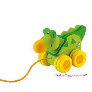 SEVI Дървена играчка за дърпане Mini КОРОКОДИЛ