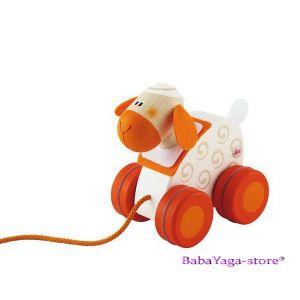 SEVI Дървена играчка за дърпане Mini АГЪНЦЕ