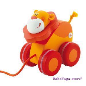 SEVI Дървена играчка за дърпане Mini ЛЪВ
