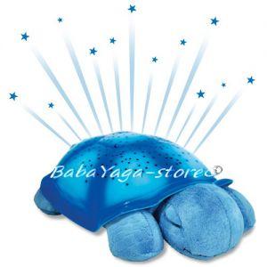 7323 Нощна прожекционна лампа КОСТЕНУРКА за детска стая от CloudB, Twilight Turtle, синя