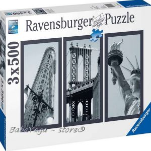 Ravensburger ПЪЗЕЛ за деца (3 х 500ч.) Ню Йорк - 162932