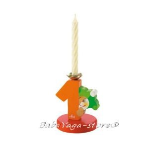 SEVI Стойка дървена със свещичка Birthday парти аксесоар номер 1 - 81901