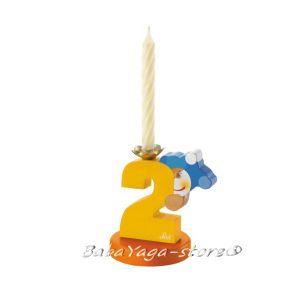 SEVI Стойка дървена със свещичка Birthday парти аксесоар номер 2 - 81902