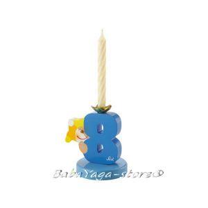 SEVI Стойка дървена със свещичка Birthday парти аксесоар номер 8 - 81908