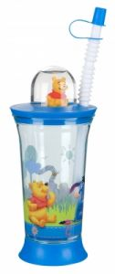 Cup with toy and straw Disney Winnie The Pooh, Trudeau, 6585340