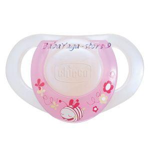 Chicco Залъгалка PHYSIO розова 2 бр. каучук - 001748
