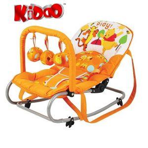KIDDO Шезлонг за бебе с героите на Дисни RELAX оранж - 8001