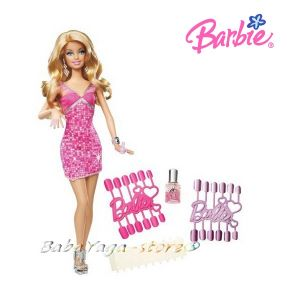 Mattel Barbie Loves Glitter Nails Doll T7434