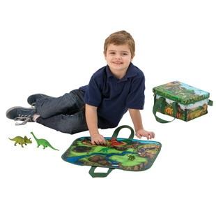 Neat-Oh ZipBin Dinosaur Mini Playset with 2 Dinosaurs, 1043XS