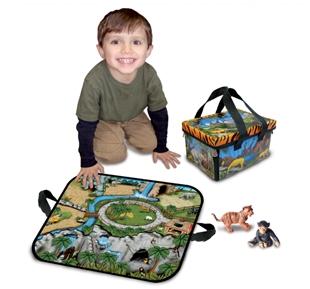 Neat-Oh ZipBin Zoo Mini Playset with 2 animals, 1291XS