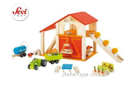 ХАМБАР дървена игра за деца  с мини фигурки от Sevi - 82505
