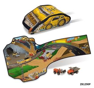 Раница БАГЕР с играчки камиончета ZipBin - 1290P