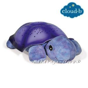 7323 Нощна прожекционна лампа КОСТЕНУРКА за детска стая от CloudB, Twilight Turtle, лилава