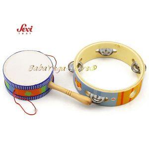 Музикална дървена играчка - Мини Музикален набор с марката Sevi - 82469