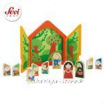 SEVI Дървена игра Куклен театър СНЕЖАНКА и седемте джуджета - 82472