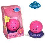 7452 Нощна прожекционна лампа ОКТОПОД за детска стая от CloudB, Dreamz To Go Octo, pink