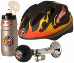 Комплект велоаксесоари (каска, тромба и бидонче) HOTWHEELS - KH800502