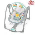 Bright Starts Люлка музикална за бебе Fold 'n Go Portable Swing, Leafscape™ от серията TaGgies, 60124