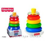 Fisher Price ПИРАМИДА за нареждане Rock-a-Stack от серията Brilliant Basics - 71050