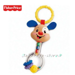 Fisher Price Бебешка играчка за детска количка КУЧЕНЦЕ Puppy Rattle - M4041