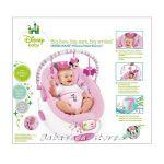 Bright Starts Шезлонг за бебе музикален с вибрации Minnie Mouse Precious Petals - 60140