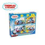 Ravensburger ПЪЗЕЛ за деца с влакчето ТОМАС и приятели от Thomas & Friends 4 в 1 - 072354
