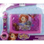 Портмоне и детски часовник ПРИНЦЕСА СОФИЯ Първа - Sofia Princess Clock wallet set