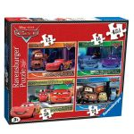 Ravensburger Puzzle 4in1 Disney Cars, 072590