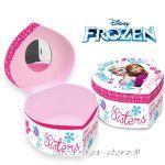 Кутийка СЪРЦЕ за бижута със Замръзналото кралство Frozen Heart Shape box 92051
