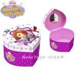 Кутийка СЪРЦЕ за бижута със София Sofia Princess Heart Shape box 91197