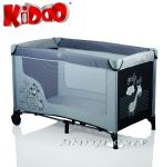 Детска кошара за бебе на едно ниво ЖИРАФ от Kiddo, 4014 сиво/черно