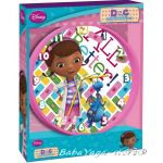 Стенен часовник за детска стая Докторката 25cm - Doc McStuffins wall Clock 10553