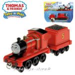 Fisher Price Влакчето ТОМАС Thomas & Friends JAMES от серията Take-n-Play - CBL85