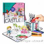Рисувателен комплект ЗАМЪК за сглобяване с флумастери Castle Creative set colour pencils 0992