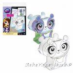 3D Креативен комплект за сглобяване и оцветяване Littlest Pet shop Creative set colour 321789