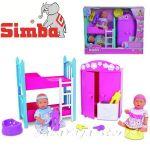 Simba New Born Baby - Кукла мини Бебе Ню Борн с Детска стая 105036610