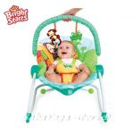 Bright Starts Шезлонг за бебе с вибрации от серията Peek-a-Zoo™ 3-in-1 Baby to Big Kid Rocker™ - 60127