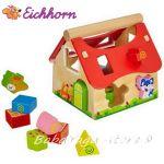 Eichhorn Детска дървена къщичка сортер с животни - 2098