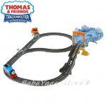 Fisher Price Игрален комплект Опасно трасе, Thomas & Friends Close call Cliff set от серията TrackMaster, DFM51
