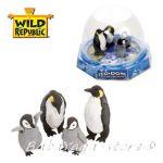 Фигурки животни семейство ПИНГВИНИ от серията Eco-Dome Family, Wild Republic, 89312
