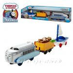 Fisher Price Влакчето ХУГО и СКИФ, Thomas & Friends Motorized HUGO & SKIFF Engine от серията TrackMaster, DVF84