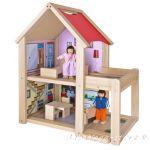 Eichhorn Дървена къща с кукли, обзаведена, Айхорн, 100002501