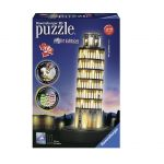 Ravensburger 3D Puzzle Leaning Tower of Pisa, Night Edition, 12515