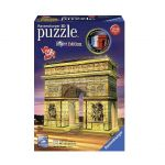 Ravensburger 3D ПЪЗЕЛ Световни забележителности: Светеща Триумфална Арка, Arc De Triomphe Night Edition, 12522